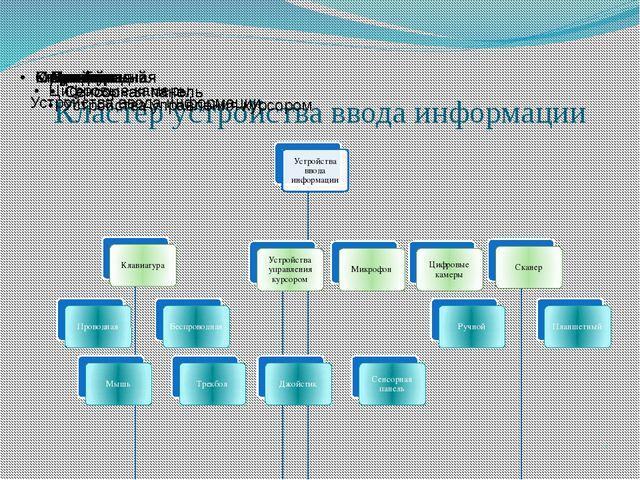 Кластер устройства ввода информации