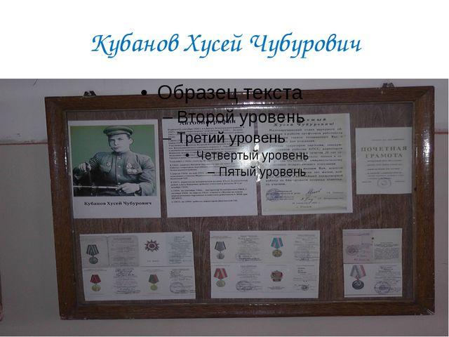 Кубанов Хусей Чубурович