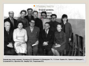 Нижний ряд (слева направо): Соонвальд Я.Я.,Матвеева Н.А.,Воеводкин Г.Н., ?,?;