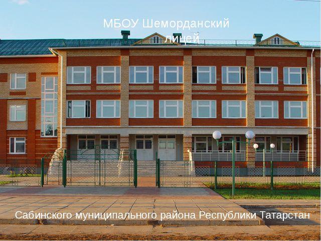 МБОУ Шеморданский лицей Сабинского муниципального района Республики Татарстан