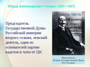 Председатель Государственной Думы Российской империи второго созыва, земский