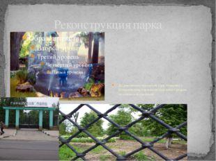 Реконструкция парка До революции городской парк граничил с ботаническим, где