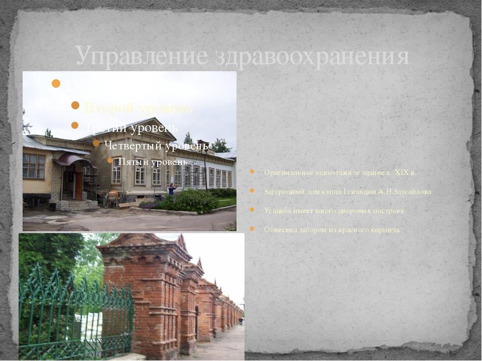 Управление здравоохранения Оригинальное одноэтажное здание к. XIX в. Загородн...