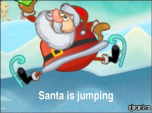 Santa is jumping