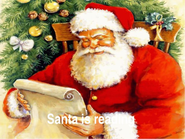 Santa is reading