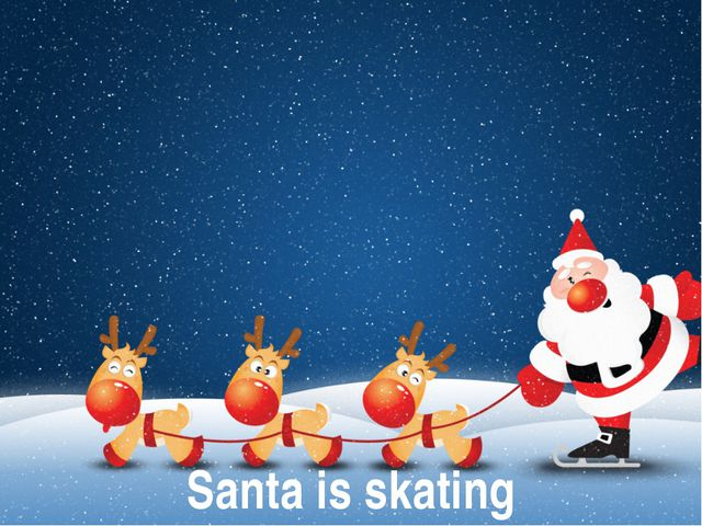 Santa is skating