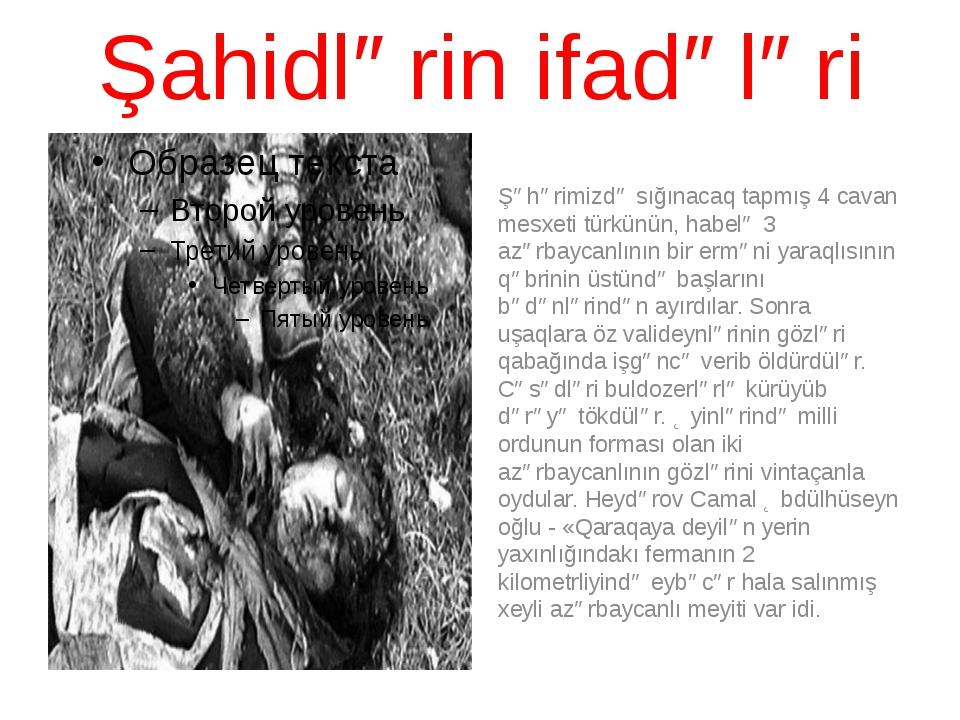 Şahidlərin ifadələri Şəhərimizdə sığınacaq tapmış 4 cavan mesxeti türkünün, h...
