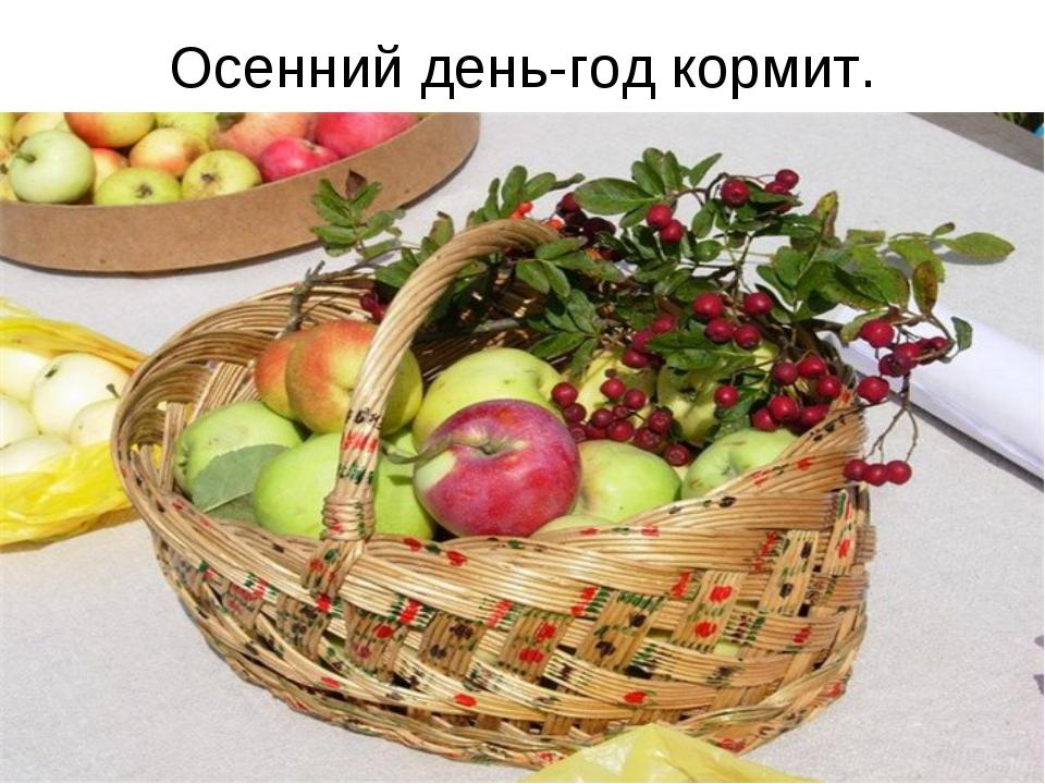 Осенний день-год кормит.