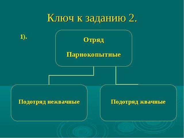 Ключ к заданию 2. 1).