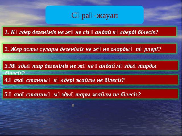 Сұрақ-жауап