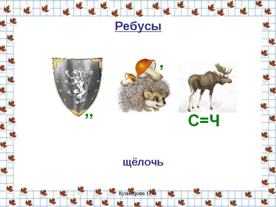 Кузнецова О.Н. Ребусы щёлочь Кузнецова О.Н.