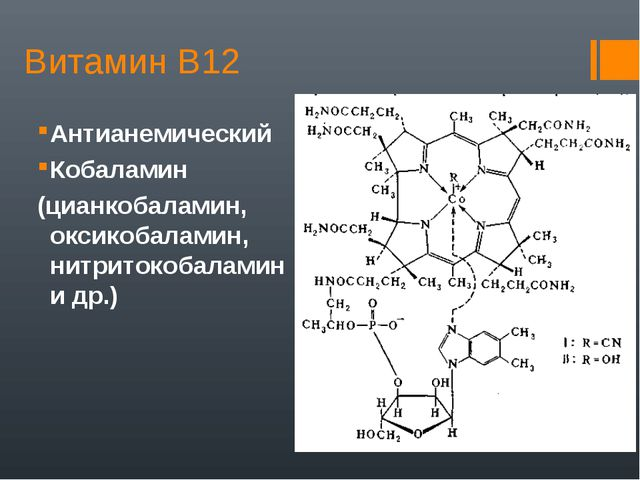 Витамин В12 Антианемический Кобаламин (цианкобаламин, оксикобаламин, нитриток...