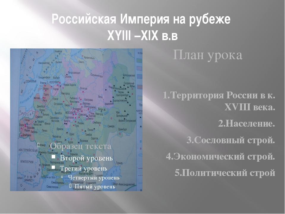 Россия на рубеже 18 19 веков