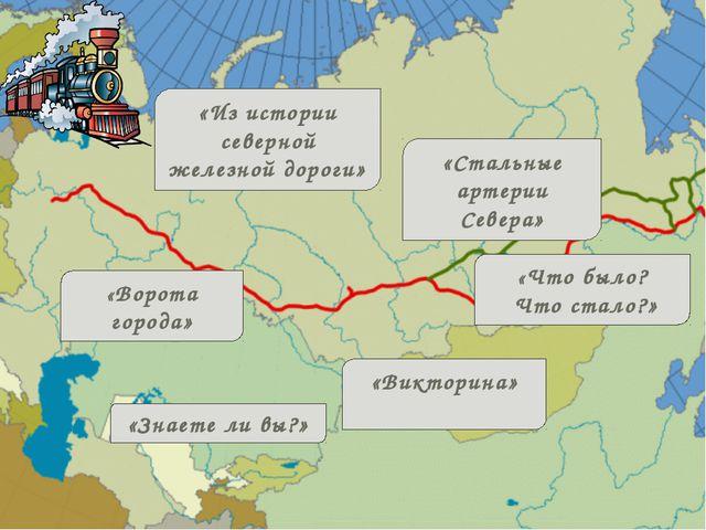 «Из истории северной железной дороги» «Стальные артерии Севера» «Что было? Ч...