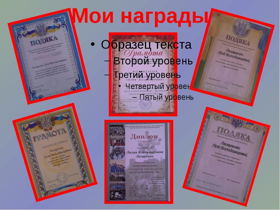 Мои награды
