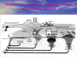 Загрязнение водоёмом промышленными и бытовыми стоками