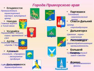Города Приморского края Владивосток Находка Уссурийск Артём Арсеньев Дальнере