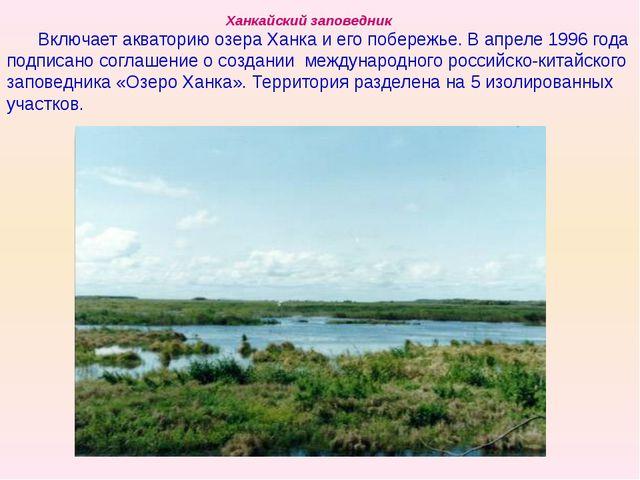 Ханкайский заповедник Включает акваторию озера Ханка и его побережье. В апрел...