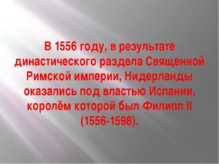 В 1556 году, в результате династического раздела Священной Римской империи, Н