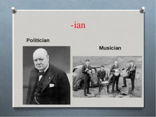 -ian Politician Musician