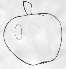 Яблоко контур