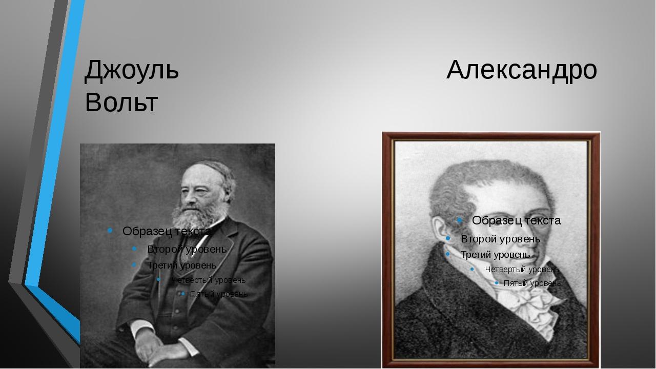 Джоуль Александро Вольт