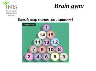 Brain gym: Какой шар является лишним?