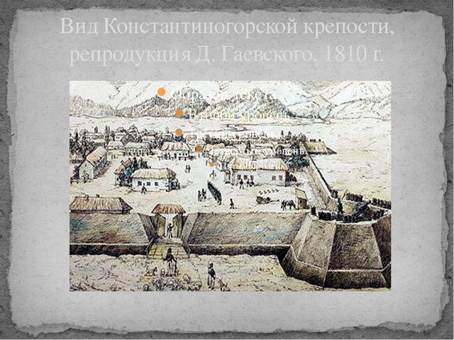 Вид Константиногорской крепости, репродукция Д. Гаевского. 1810 г.