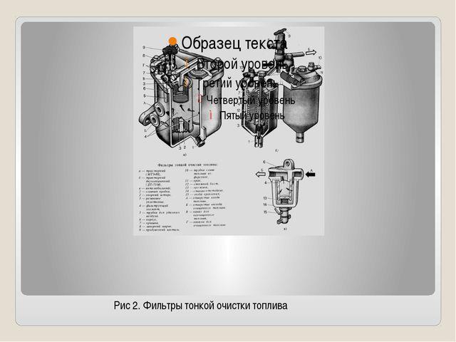 Рис 2. Фильтры тонкой очистки топлива