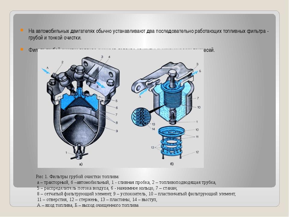 На автомобильных двигателях обычно устанавливают два последовательно работающ...