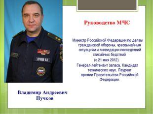 Руководство МЧС Министр Российской Федерации по делам гражданской обороны, чр