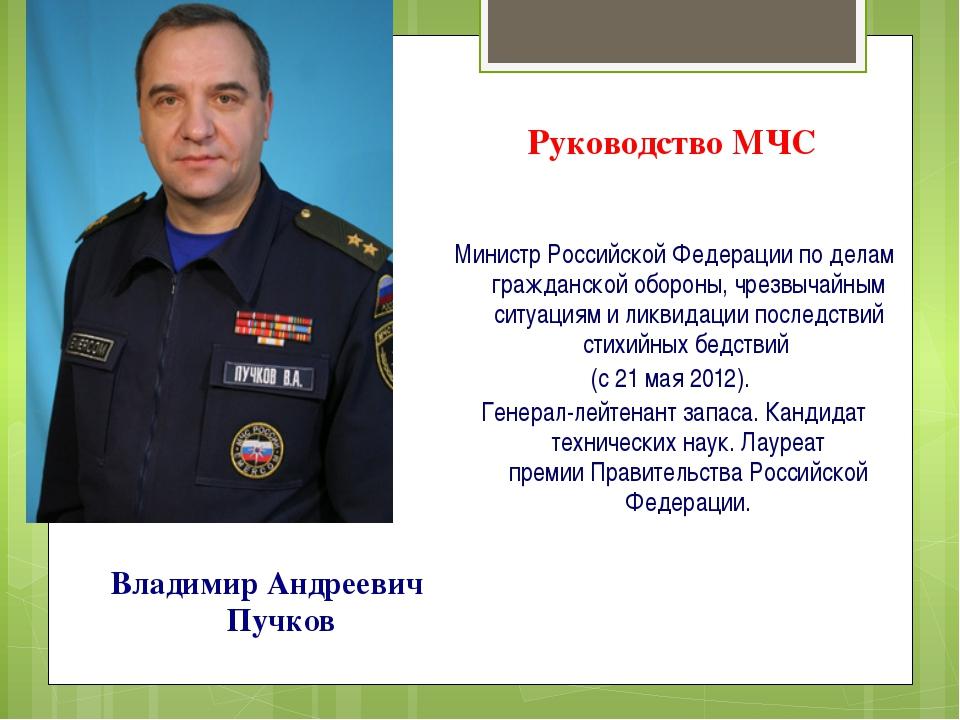 Руководство МЧС Министр Российской Федерации по делам гражданской обороны, чр...