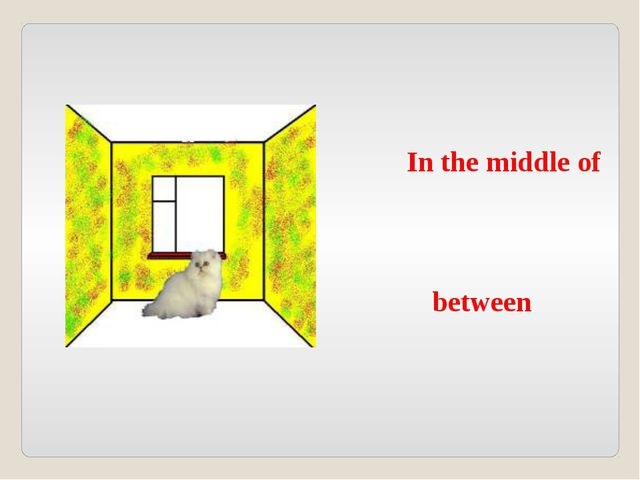 In the middle of between