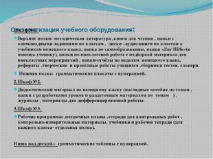 Систематизация учебного оборудования: Шкаф №1. Верхние полки: методическая л