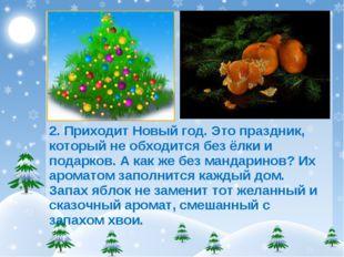 2. Приходит Новый год. Это праздник, который не обходится без ёлки и подарков