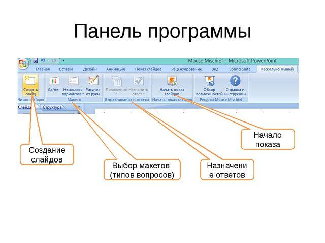 Возможности программы Mouse Mischief интегрируется в Microsoft PowerPoint (20...