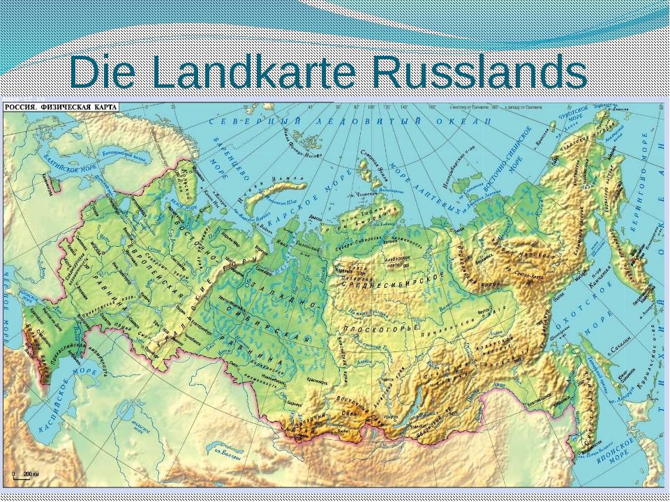 Die Landkarte Russlands