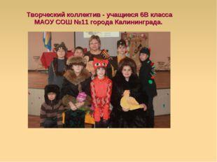 Творческий коллектив - учащиеся 6В класса МАОУ СОШ №11 города Калининграда.