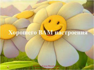 Хорошего ВАМ настроения Абаимова Елена Михайловна учитель начальных классов