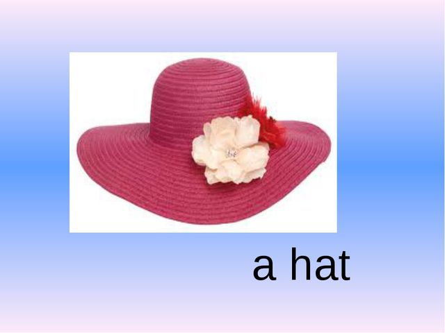 a hat
