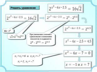 16= При умножении степеней с одинаковыми основаниями показатели складываются