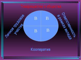 Товарищества и общества В В В В Кооператив Ответственность в рамках вклада Ли