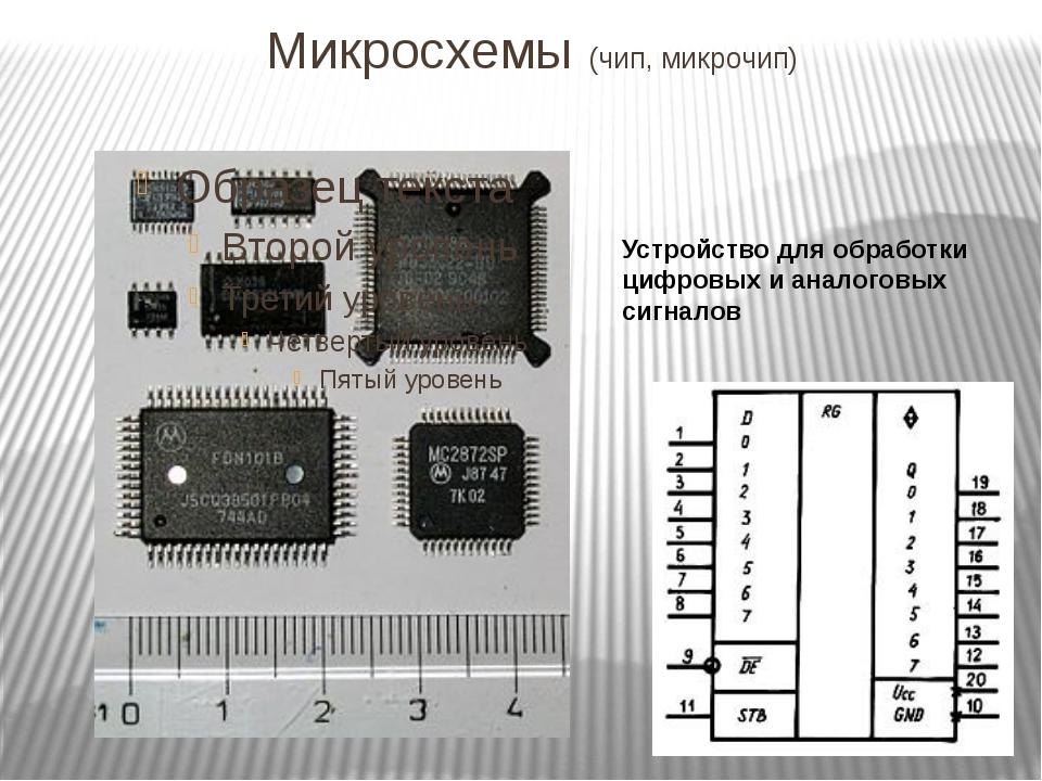 Микросхемы (чип, микрочип) Устройство для обработки цифровых и аналоговых сиг...