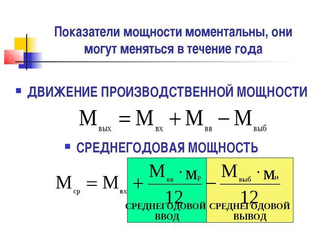 Показатели мощности моментальны, они могут меняться в течение года ДВИЖЕНИЕ П...