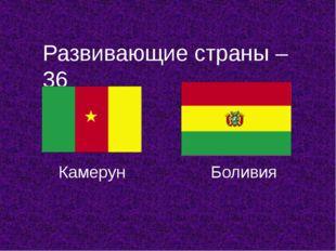 Развивающие страны – 36 Камерун Боливия