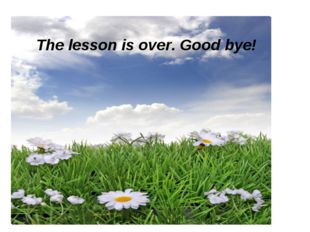 The lesson is over. Good bye! The lesson is over. Good bye!