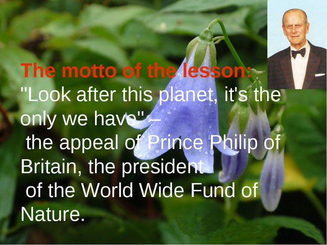 """The motto of the lesson: """"Look after this planet, it's the only we have"""" – th..."""