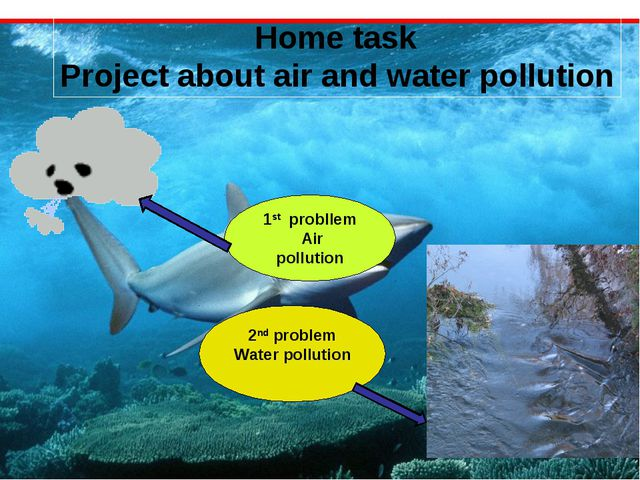 Home task Project about air and water pollution 1st probllem Air pollution 2...