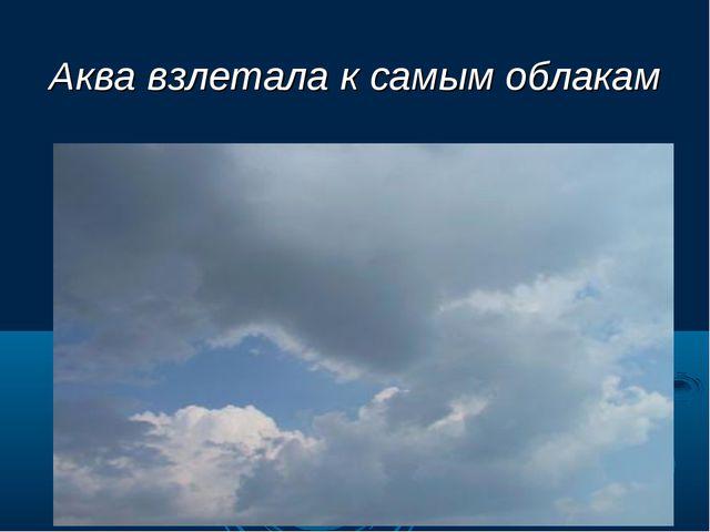 Аква взлетала к самым облакам