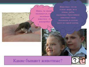 Миша, ты знаешь, оказывается, самое маленькое животное- это землеройка! Ты,